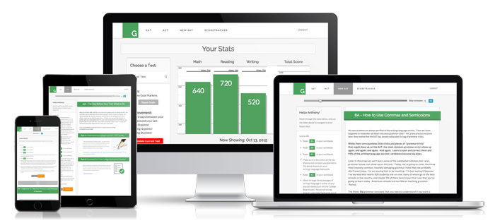 Green Test Prep ACT and SAT prep system works on all platforms