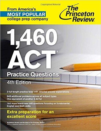 1460 practice ACT problems