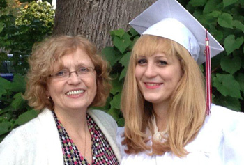 Green Test Prep users success, Hannah and her mom, Arlene.